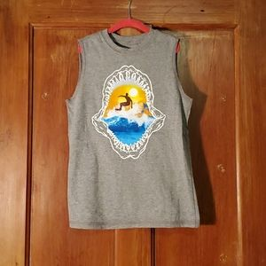 **5/$25** Faded Glory Gray Surfer Tank Top Size 8